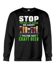 BREWERY CLOTHING - CRAFT BEER MAKES ME HAPPY Crewneck Sweatshirt thumbnail