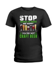 BREWERY CLOTHING - CRAFT BEER MAKES ME HAPPY Ladies T-Shirt thumbnail