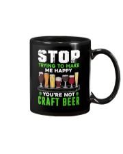 BREWERY CLOTHING - CRAFT BEER MAKES ME HAPPY Mug thumbnail