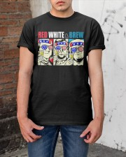 CRAFT BEER BREWERY RED WHITE AND BREW Classic T-Shirt apparel-classic-tshirt-lifestyle-31