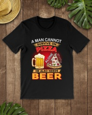 CRAFT BEER LOVER - A MAN NEEDS BEER AND PIZZA Classic T-Shirt lifestyle-mens-crewneck-front-18