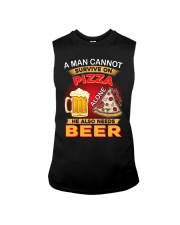 CRAFT BEER LOVER - A MAN NEEDS BEER AND PIZZA Sleeveless Tee thumbnail