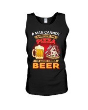 CRAFT BEER LOVER - A MAN NEEDS BEER AND PIZZA Unisex Tank thumbnail