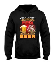 CRAFT BEER LOVER - A MAN NEEDS BEER AND PIZZA Hooded Sweatshirt thumbnail