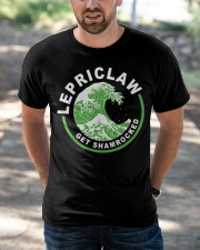 ST PATRICK'S DAY - LEPRICLAW GET SHAMROCKED Classic T-Shirt apparel-classic-tshirt-lifestyle-front-50