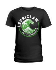 ST PATRICK'S DAY - LEPRICLAW GET SHAMROCKED Ladies T-Shirt tile