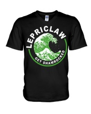 ST PATRICK'S DAY - LEPRICLAW GET SHAMROCKED V-Neck T-Shirt thumbnail