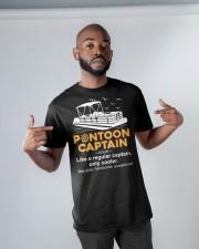 PONTOON HULLS CAPTAIN DEFINITION Classic T-Shirt apparel-classic-tshirt-lifestyle-front-32