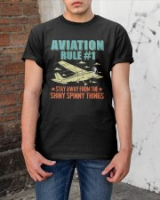 AIRPLANE GIFTS - AVIATION RULE Classic T-Shirt apparel-classic-tshirt-lifestyle-31