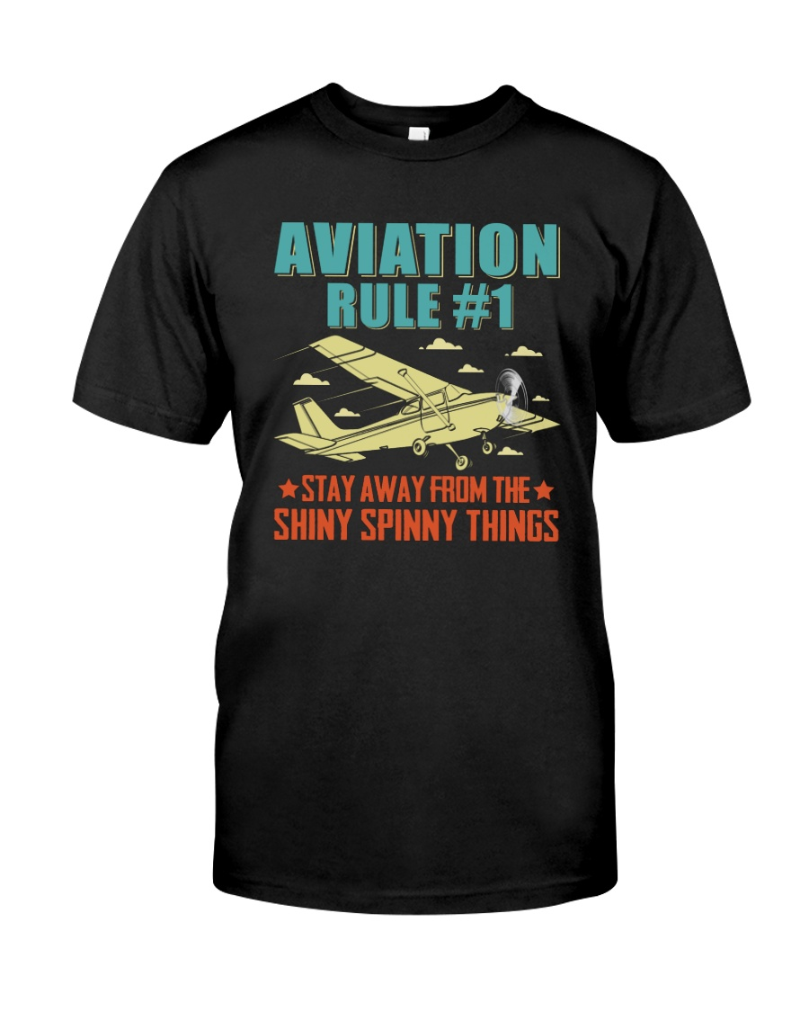 AIRPLANE GIFTS - AVIATION RULE Classic T-Shirt
