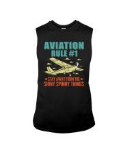 AIRPLANE GIFTS - AVIATION RULE Sleeveless Tee thumbnail