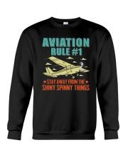 AIRPLANE GIFTS - AVIATION RULE Crewneck Sweatshirt thumbnail