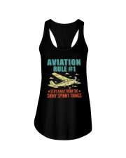 AIRPLANE GIFTS - AVIATION RULE Ladies Flowy Tank thumbnail