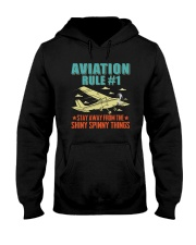 AIRPLANE GIFTS - AVIATION RULE Hooded Sweatshirt thumbnail
