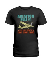 AIRPLANE GIFTS - AVIATION RULE Ladies T-Shirt thumbnail
