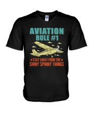 AIRPLANE GIFTS - AVIATION RULE V-Neck T-Shirt thumbnail