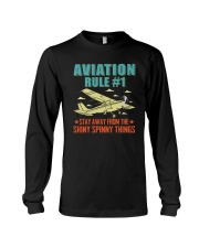 AIRPLANE GIFTS - AVIATION RULE Long Sleeve Tee thumbnail