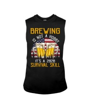 BEER BREWING IS NOT A HOBBY IT'S A SURVIVAL SKILL Sleeveless Tee thumbnail