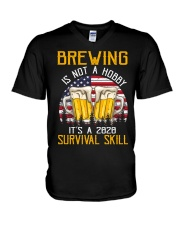BEER BREWING IS NOT A HOBBY IT'S A SURVIVAL SKILL V-Neck T-Shirt thumbnail