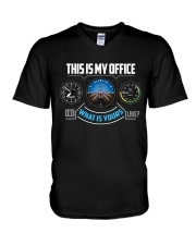 PILOT GIFTS - MY OFFICE V-Neck T-Shirt thumbnail