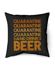 """2020 BEER BREWERS QUARANTINE AND DRINK BEER Indoor Pillow - 16"""" x 16"""" thumbnail"""
