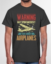 PILOT GIFTS - TALK ABOUT AIRPLANES Classic T-Shirt garment-tshirt-unisex-front-03