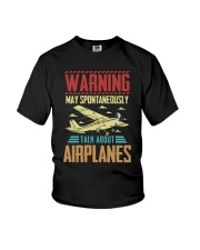PILOT GIFTS - TALK ABOUT AIRPLANES Youth T-Shirt thumbnail
