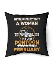 "PONTOON BOAT GIFT - FEBRUARY PONTOON WOMAN Indoor Pillow - 16"" x 16"" thumbnail"