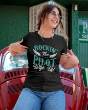 PILOT GIFTS - ROCKING PILOT WIFE LIFE Ladies T-Shirt apparel-ladies-t-shirt-lifestyle-01