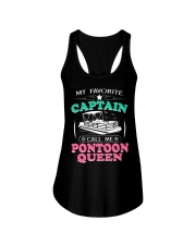 PONTOON BOAT GIFT - CALL ME PONTOON QUEEN Ladies Flowy Tank thumbnail