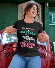 PONTOON BOAT GIFT - CALL ME PONTOON QUEEN Ladies T-Shirt apparel-ladies-t-shirt-lifestyle-01