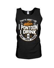 PONTOON BOAT GIFTS - I DRINK AND I KNOW THINGS Unisex Tank thumbnail