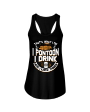 PONTOON BOAT GIFTS - I DRINK AND I KNOW THINGS Ladies Flowy Tank thumbnail