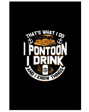 PONTOON BOAT GIFTS - I DRINK AND I KNOW THINGS 24x36 Poster thumbnail
