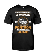 PONTOON BOAT GIFT - JUNE PONTOON WOMAN Classic T-Shirt front