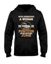 PONTOON BOAT GIFT - JUNE PONTOON WOMAN Hooded Sweatshirt thumbnail