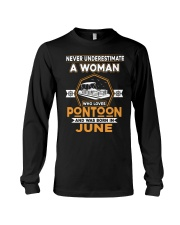PONTOON BOAT GIFT - JUNE PONTOON WOMAN Long Sleeve Tee thumbnail