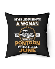 "PONTOON BOAT GIFT - JUNE PONTOON WOMAN Indoor Pillow - 16"" x 16"" thumbnail"