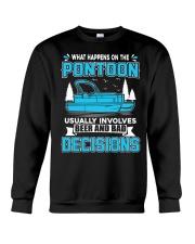 PONTOON BOAT GIFT - BEER AND BAD DECISIONS Crewneck Sweatshirt thumbnail