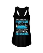 PONTOON BOAT GIFT - BEER AND BAD DECISIONS Ladies Flowy Tank thumbnail