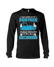 PONTOON BOAT GIFT - BEER AND BAD DECISIONS Long Sleeve Tee thumbnail