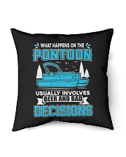 """PONTOON BOAT GIFT - BEER AND BAD DECISIONS Indoor Pillow - 16"""" x 16"""" thumbnail"""