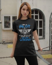 PILOT GIFT - NEVER WRONG Classic T-Shirt apparel-classic-tshirt-lifestyle-19
