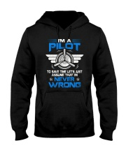 PILOT GIFT - NEVER WRONG Hooded Sweatshirt tile