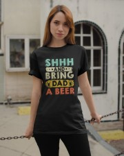CRAFT BEER AND BREW - BRING DAD A HOME BREW BEER Classic T-Shirt apparel-classic-tshirt-lifestyle-19