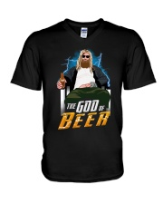 TRULY DRINK - THE GOD OF BEER V-Neck T-Shirt thumbnail
