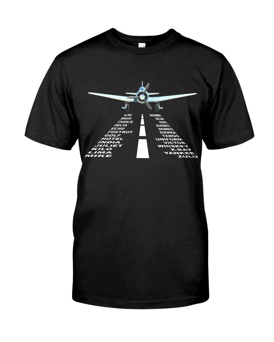 PILOT GIFTS - LANDING PHONETIC ALPHABET Classic T-Shirt
