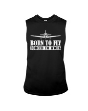 BORN TO FLY - FORCED TO WORK Sleeveless Tee thumbnail