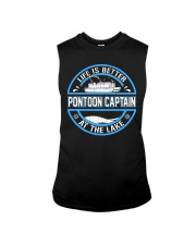 PONTOON BOAT GIFT - LIFE IS BETTER AT THE LAKE Sleeveless Tee thumbnail