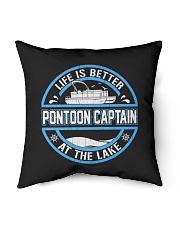 "PONTOON BOAT GIFT - LIFE IS BETTER AT THE LAKE Indoor Pillow - 16"" x 16"" thumbnail"